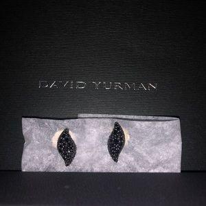 David Yurman Black diamond earrings